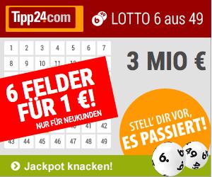 Tipp24 6x EuroJackpot für nur 2,50 EUR